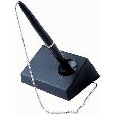 Desk Pen Holder Bic Captive Desk Pen With Chain Solo Deluxe Desk Set Officeworks