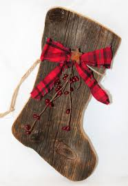 primitive barnboard santa boot barn wood stockings and barn