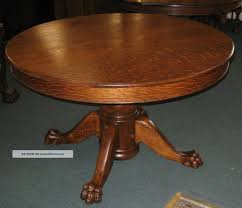 Amish Oak Dining Room Furniture Home Design Outstanding Antique Round Oak Pedestal Dining Table