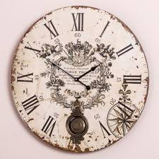 Large Shabby Chic Wall Clock by Antique French Wall Clock Ebay