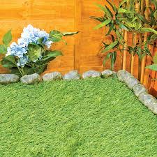 Patio Edging Stones by 14 Piece Stone Effect Plastic Garden Edging Hammer In Lawn