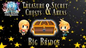 Final Fantasy 1 World Map by World Of Final Fantasy Big Bridge Treasure Chest And Secret