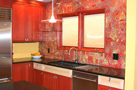 glass backsplash kitchen red glass tiles backsplash kitchen back splashes kitchen remodel