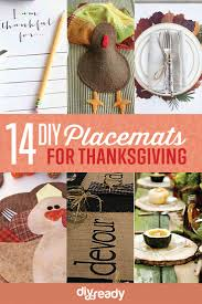 home made thanksgiving decorations diy placemat ideas to make your thanksgiving table stand out