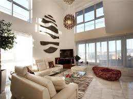 Decorating Ideas For Living Rooms With High Ceilings Living Room Large Modern Living Room Design With High Ceiling