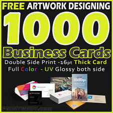 Full Color Business Card Printing Business Card Printing Services Ebay