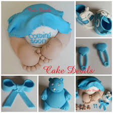 baby with blanket baby sneakers fondant bear baby shower
