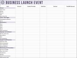 Event Budget Template Excel How To Plan A Killer Business Launch Event In 6 Steps Business