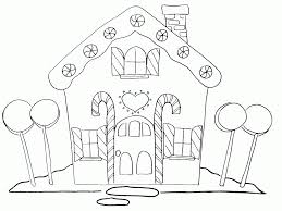 free printable christmas gingerbread house coloring pages best