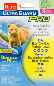 hartz ultra guard pro topical flea u0026 tick prevention for cats