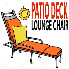 an image of a patio deck lounge chair royalty free cliparts