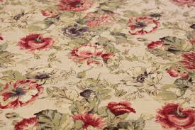 Shabby Chic Upholstery Fabric by Drapery Upholstery Fabric Poppies 137 Antique Red By Covington