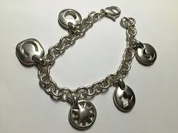 silver star charm bracelet images Tiffany co silver stencil heart sun moon star horseshoe charm jpg