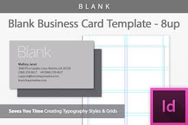 Indesign Business Card Templates blank business card indesign template b design bundles