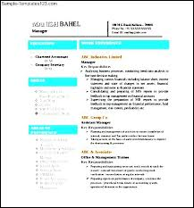 chartered accountant resume resume template simple format in word 4 file intended doc 570606