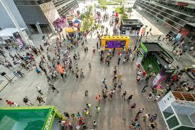the sports fan zone wta fanzone activations at singapore sports hub kingsmen ooh media