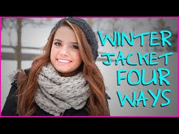 how to wear a winter jacket four ways get ready with me youtube