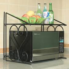 microwave oven storage rack stand holder kitchen cabinet organizer