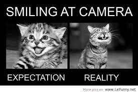 Camera Meme - smiling at camera meme