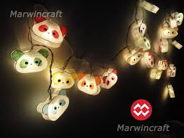 paper string lights bear panda fairy lights bedroom home decor
