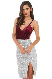 wine velvet bust sequin midi dress party dresses red