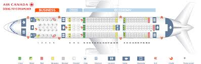 seat map seat map boeing 787 8 dreamliner air canada best seats in plane