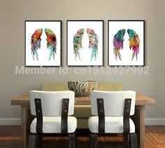 Pcs Modern Home Decoration Wall Art Picture Angel Wings Feather - Canvas art for kids rooms