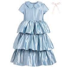 light blue silk dress kids girls little coco light blue silk dress childrensalon outlet