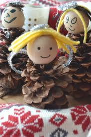 Christmas Crafts For Kids Make These Pinecone Angels