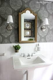powder bathroom ideas powder room makeover idea using a stencil hometalk