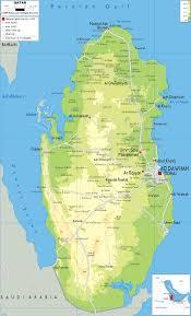 Asia Physical Map Physical Map Of Qatar Ezilon Maps