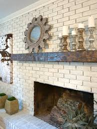 clean white painting brick fireplace u2014 jessica color simple way