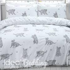 grey cat print duvet set and pillowcase bedding set duvet sets complete bedding sets bed sheets pillowcase