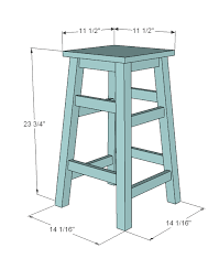 Free Wood Step Stool Plans by Ana White Simplest Stool Diy Projects
