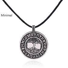 aliexpress com buy minimal vikings runes amulet pendant necklace