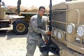 air force vehicle operations vehicle operator traverses iraqi streets to deliver vital supplies
