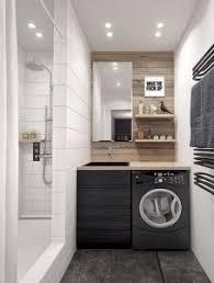 machine a laver dans la cuisine faire de lave linge un véritable atout dans la salle de bain ou