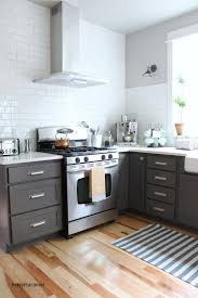 Painted Kitchen Cabinets Before After Wonderful Painting Kitchen Cabinets Grey Chalk Paint In French