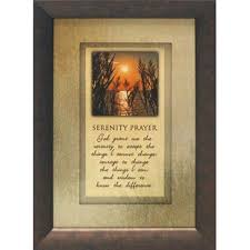 serenity prayer picture frame serenity prayer wall wayfair