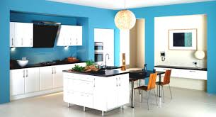 modern kitchen interior with cool island and cabinets set design