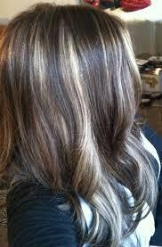 partial red highlights on dark brown hair blonde and honey partial foil highlights on brown hair hair