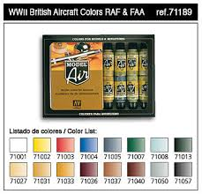 wwii british aircraft model air paint set 16 colors hobby and
