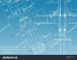 blueprints mechanical engineering drawings technical design stock