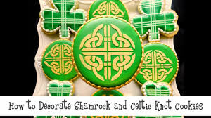 how to decorate shamrock and celtic knot cookies youtube