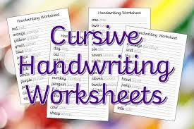 cursive handwriting worksheets u2013 free printable mama geek