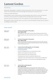 Self Employed Resume Template Freelance Photographer Resume Samples Visualcv Resume Samples
