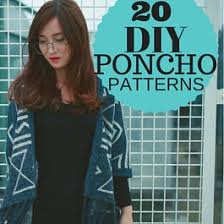 20 easy poncho sewing patterns sew guide