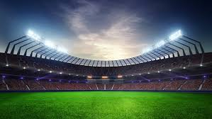how tall are football stadium lights stadium moving lights animated flash with people fans 3d render