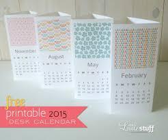 handmade free 2015 spring printable desk calendar separate tri