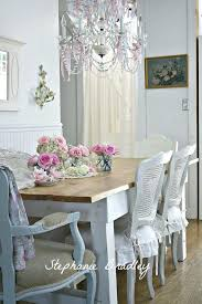 Shabby Chic Dining Table Sets Dining Table Pink Peonies Dining Table Room Ideas Pink Dining